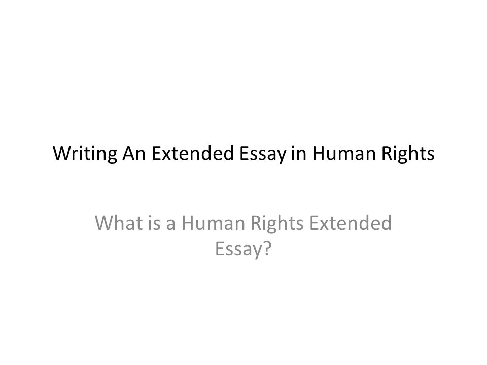 extended essay for dummies