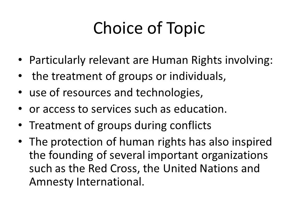 Extended definition essay human rights