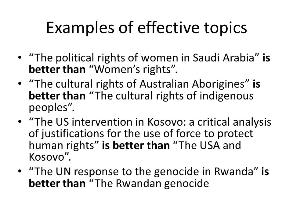 writing an extended essay in human rights ppt video online  7 examples of effective topics ""