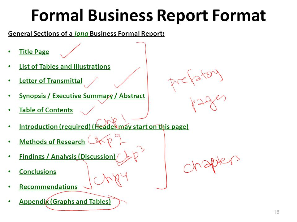 Formal report long