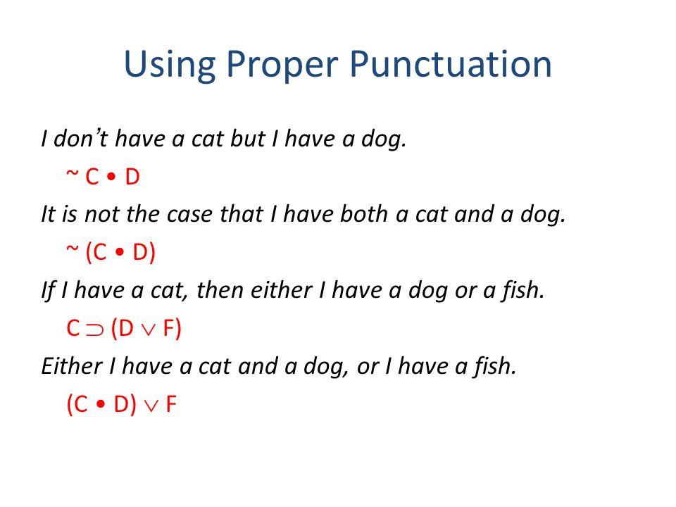 Using Proper Punctuation