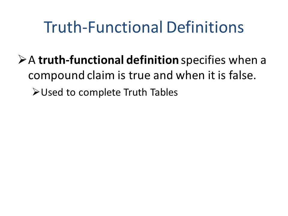 Truth-Functional Definitions