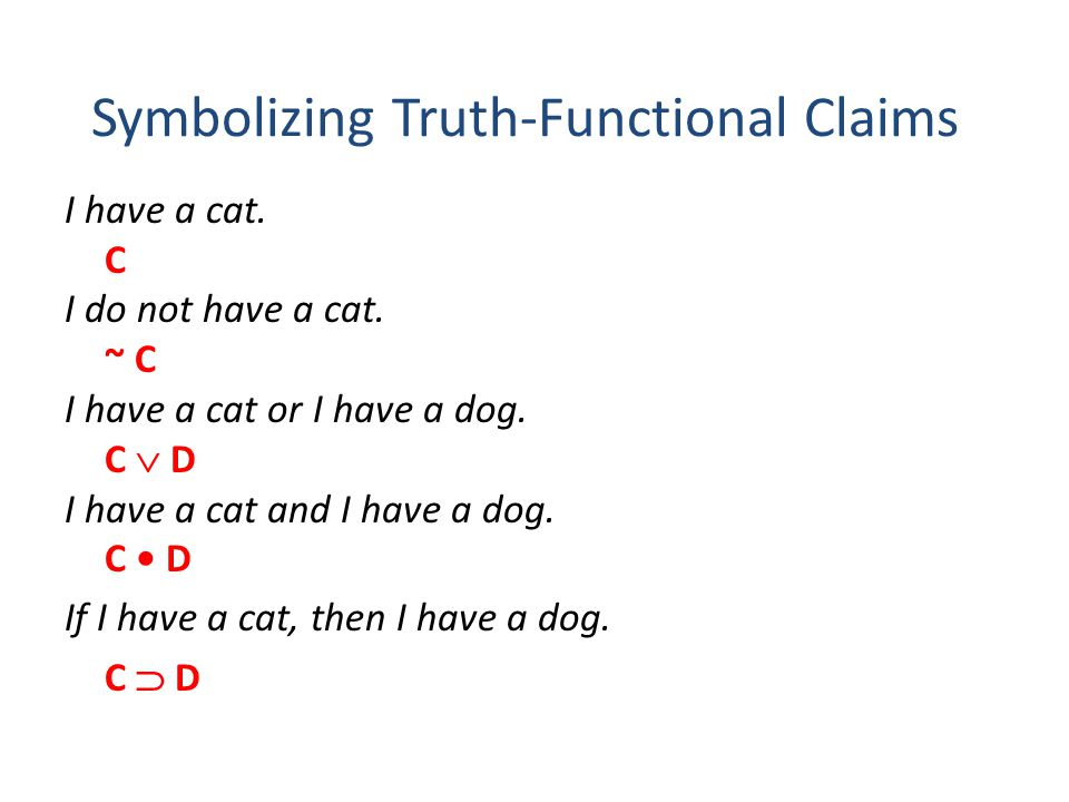 Symbolizing Truth-Functional Claims