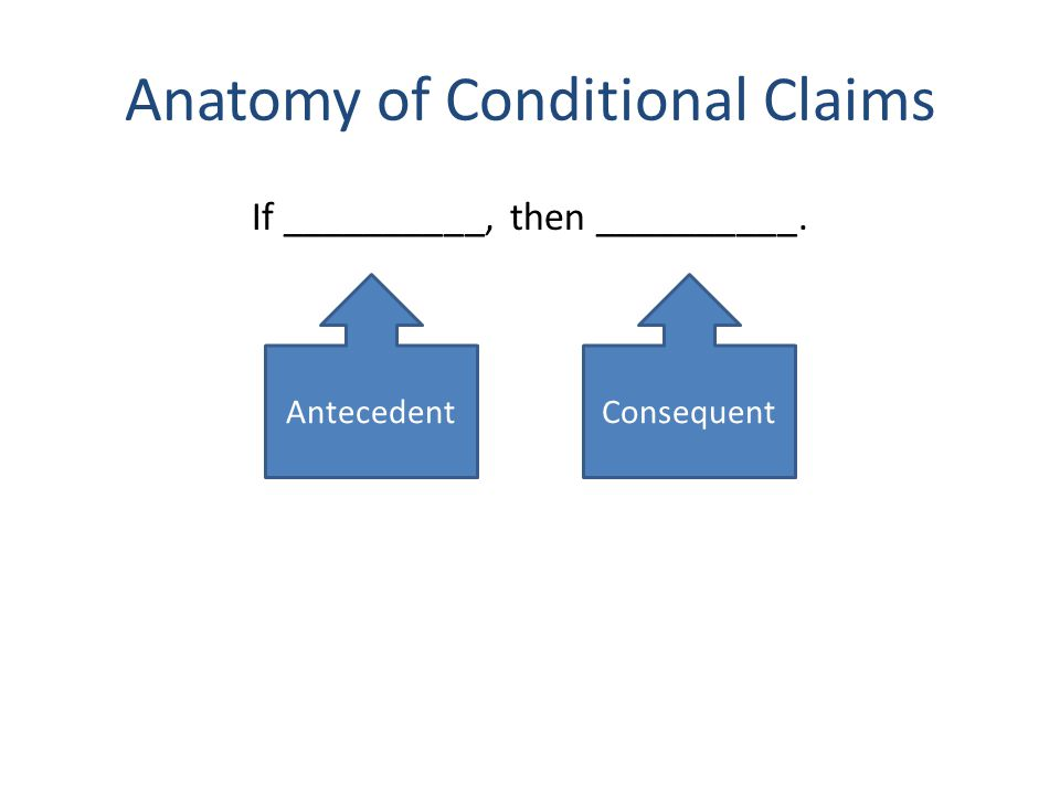 Anatomy of Conditional Claims