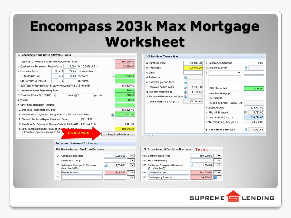 Welcome to Full FHA 203k Training ppt video online download – Mortgage Worksheet