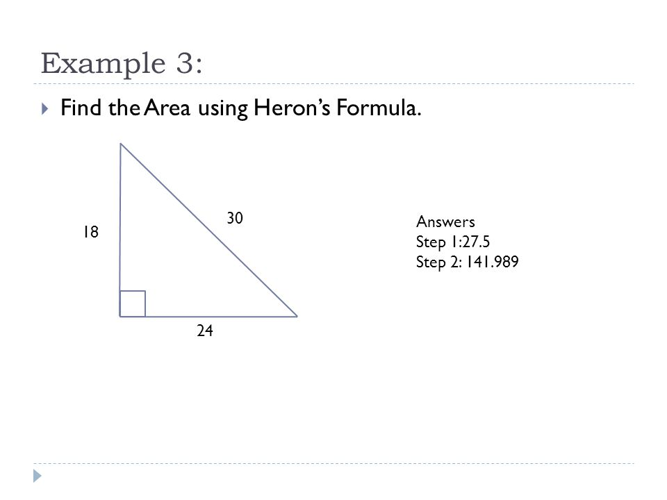 how to find the area of a triangle without area