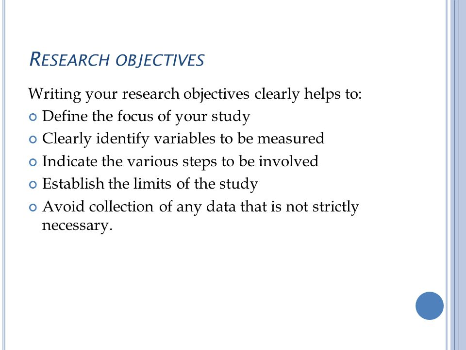 marketing research objectives examples Graduates will be able to evaluate educational research critically and participate in the research community  examples of measurable learning outcomes.