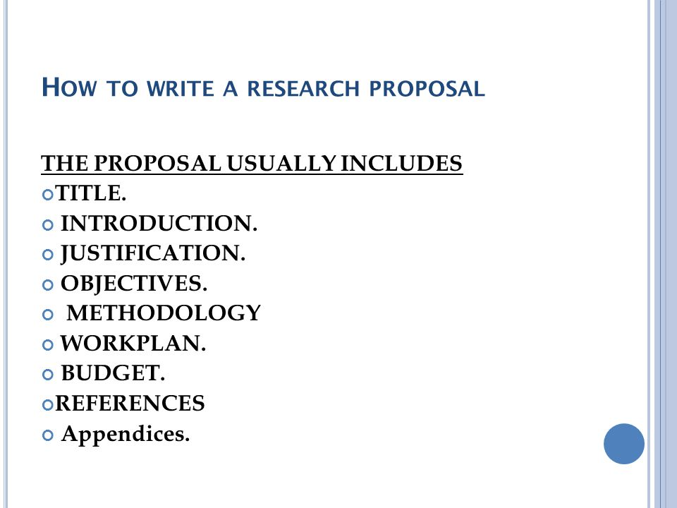 how to write a research proposal - How To Write A Proposal