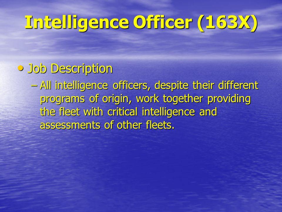 14 Intelligence Officer (163X) Job Description ...