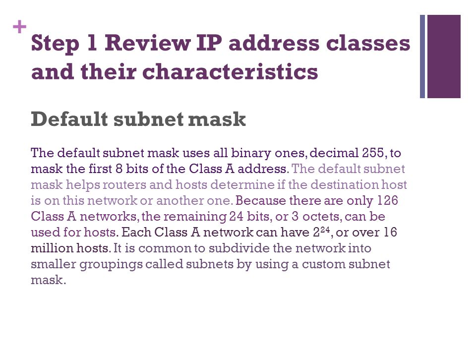 ip address classes and subnet mask pdf