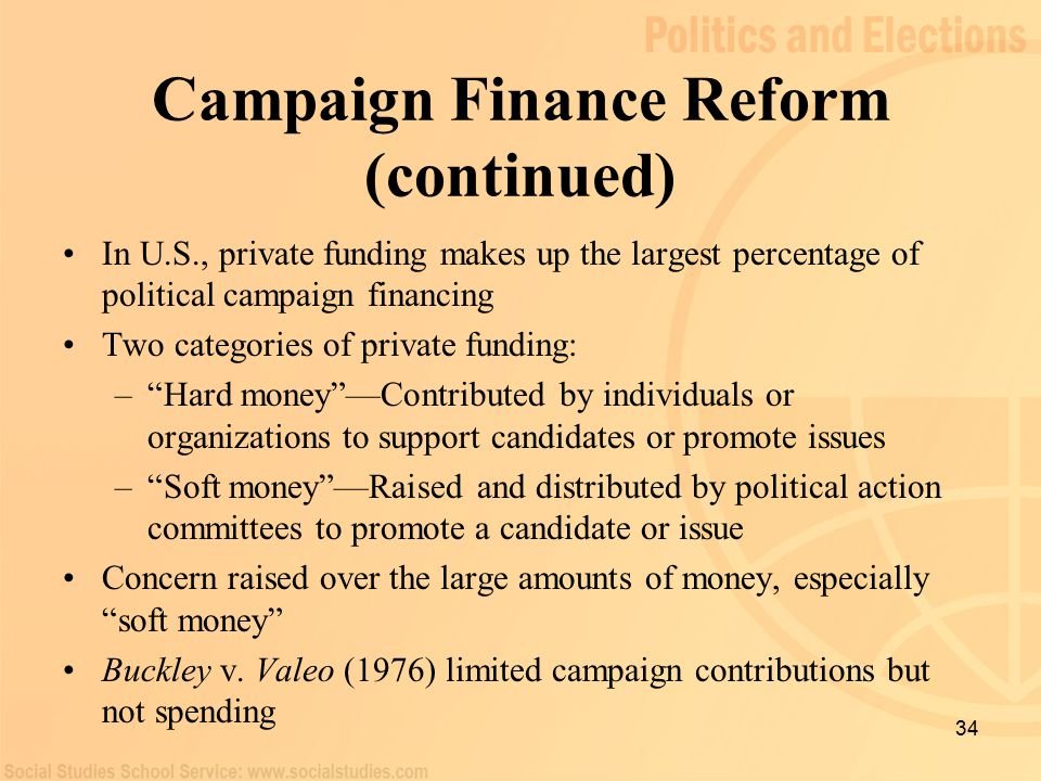 issue of campaign finance reform Campaign finance: overview: key stories:  campaign finance issue divides  quashing what proponents of campaign finance reform saw as their best hope in.