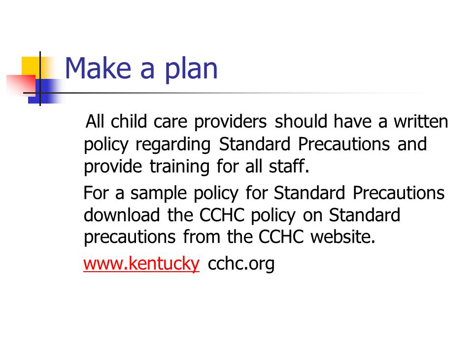 health and safety guidelines in childcare