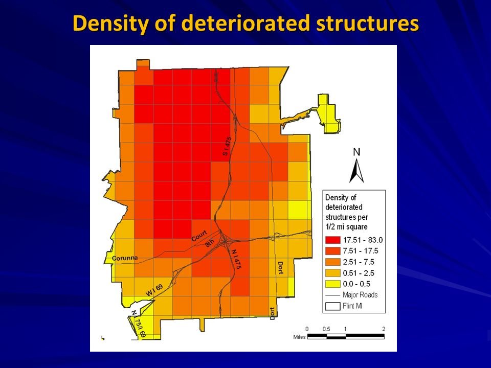 Density of deteriorated structures