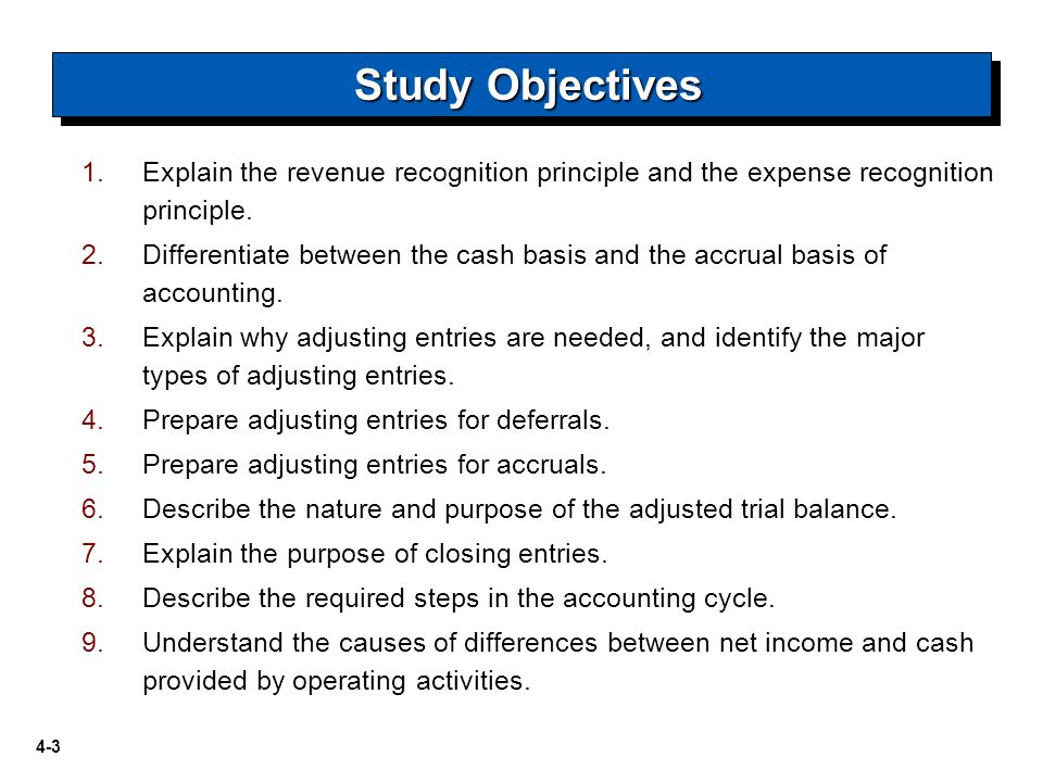describe the three important guidelines for revenue recognition The revenue recognition principle states that, under the accrual basis of accounting, you should only record revenue when an entity has substantially completed a revenue generation process thus, you record revenue when it has been earned.