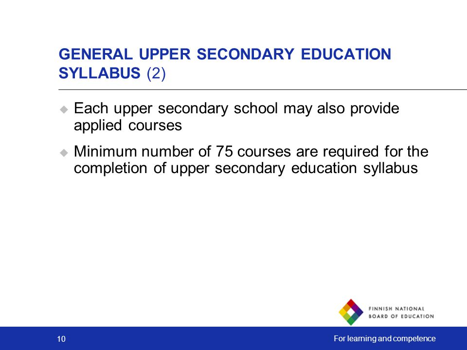 GENERAL UPPER SECONDARY EDUCATION SYLLABUS (2)
