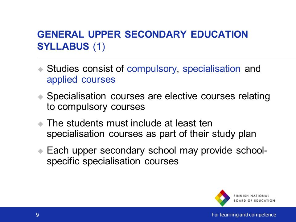 GENERAL UPPER SECONDARY EDUCATION SYLLABUS (1)