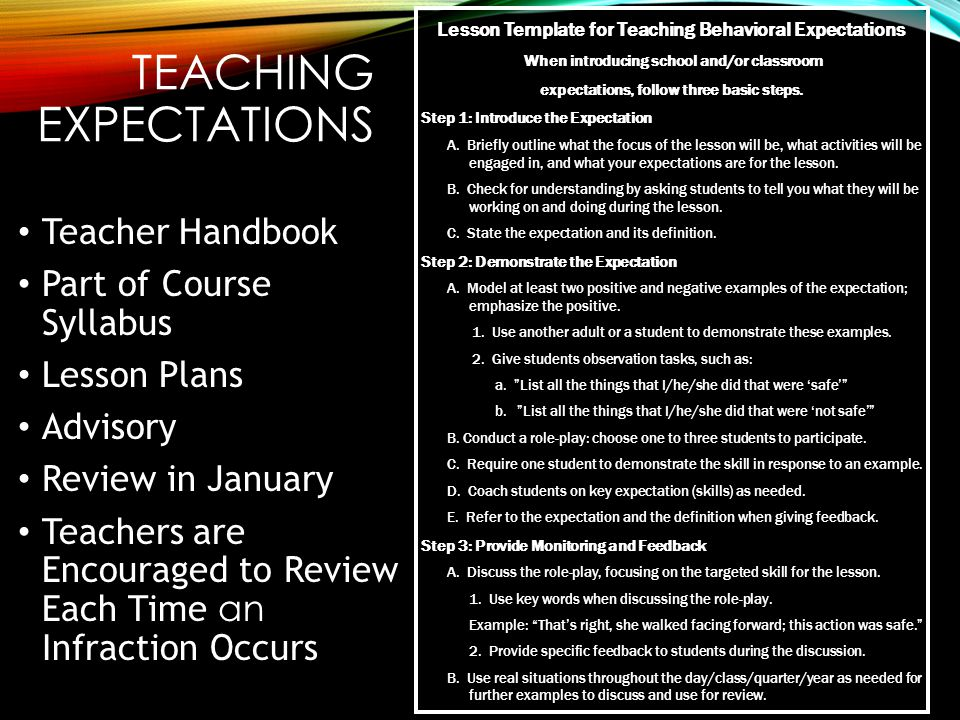 The positive expectations of teachers for their students