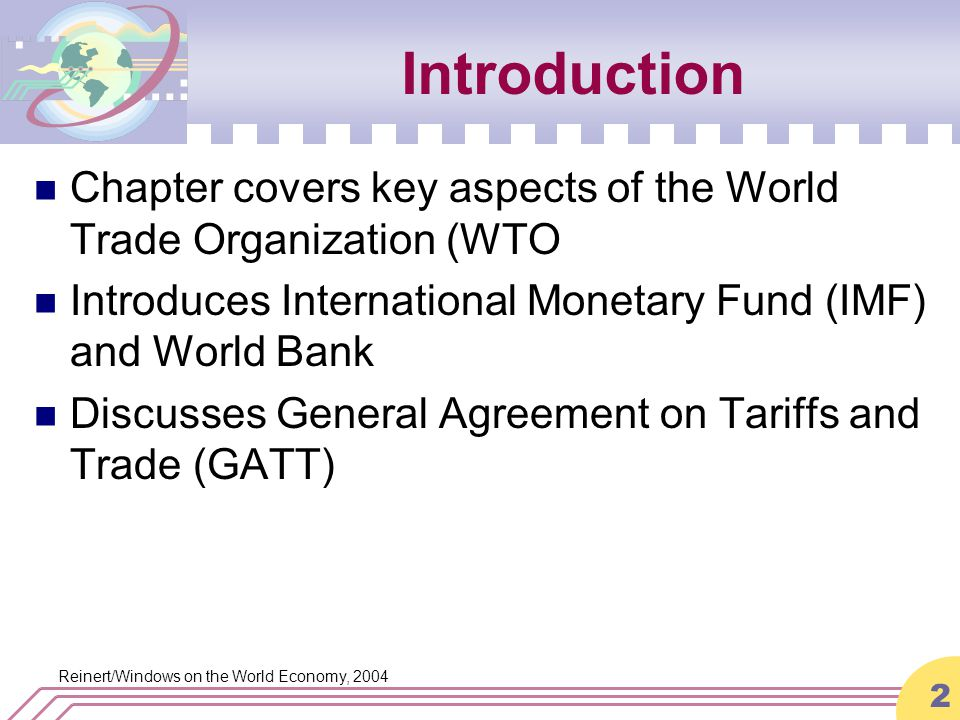 An Introduction To The General Agreement On Tariffs And Trade Gatt