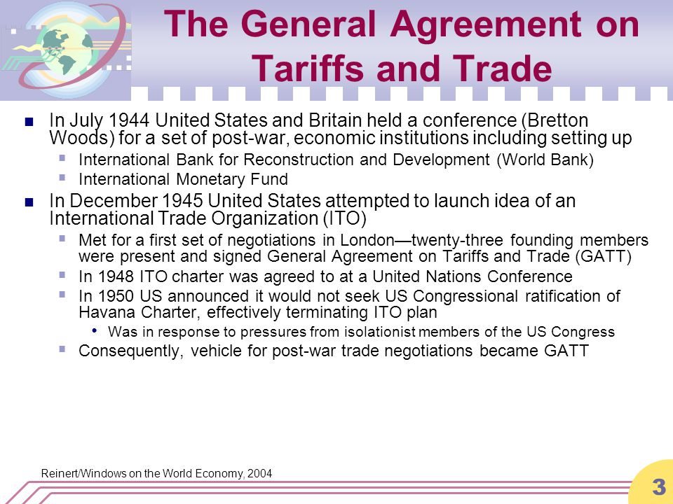 an analysis of general agreement on and trade gatt in united states The text of the original agreement establishing the gatt, with annexes and  schedules, is attached to the final act of the united nations conference on trade  and  are the general agreement on trade in services  guide to gatt law  and practice: analytical.