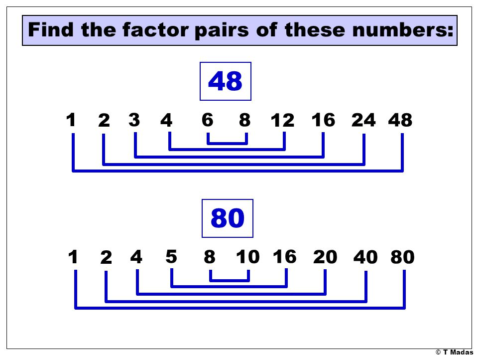 Factor Pairs, Arrays, Patterns and Fun! Building factor pairs to 50