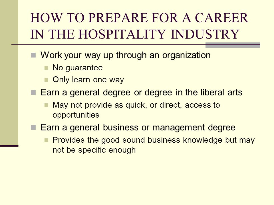 the hospitality industry and you The hospitality industry can be divided into three categories: food and beverage, accommodations, travel and tourism while they have similarities and differences, each depends on specific .