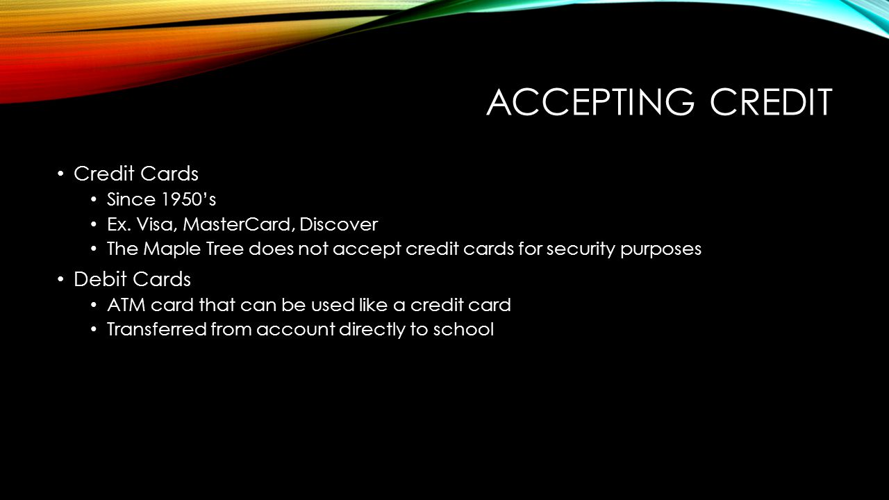 accept card credit online