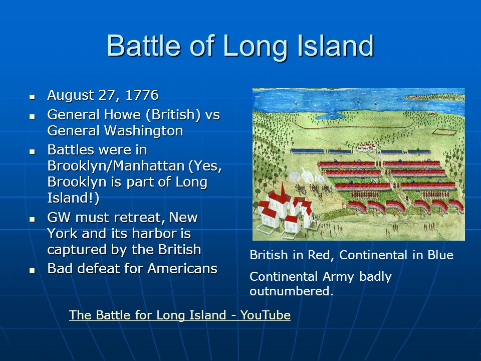 Was Battle Of Long Island Bad For Americans