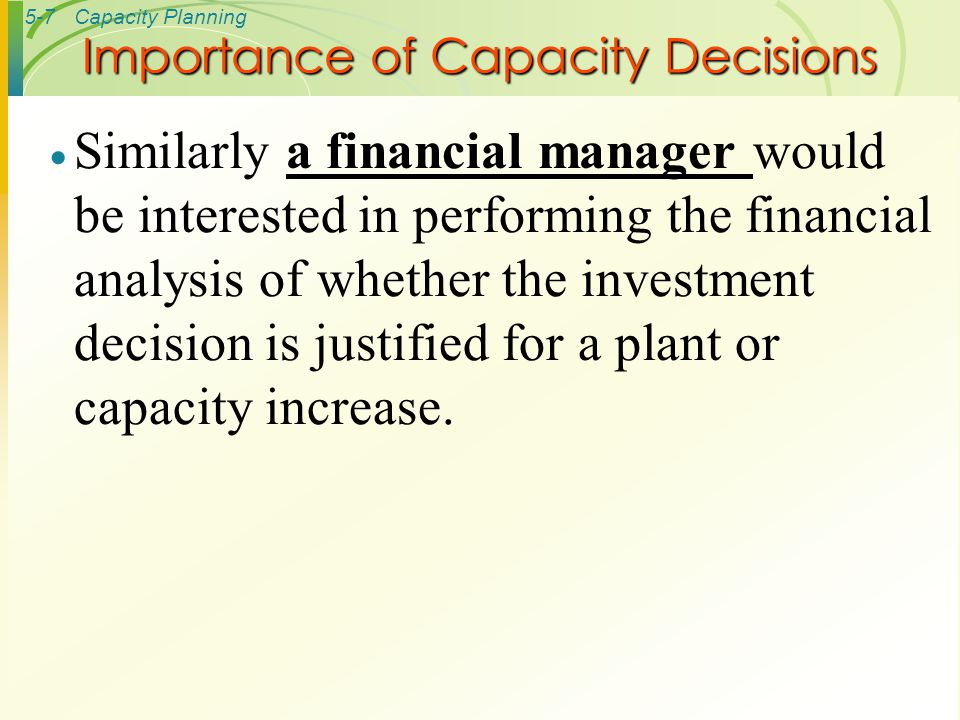 the importance of investment in long term decision making of an organization You may encounter problems where one wrong decision could have adverse long-term important for making the decision important returns on investment.