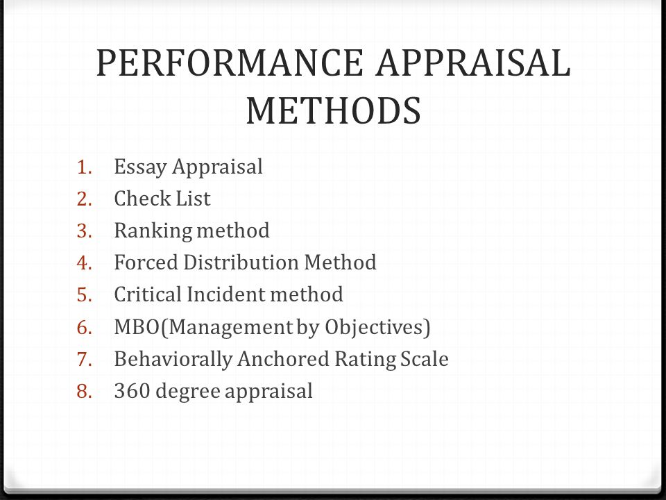 Performance Appraisal Systems Ppt Video Online Download