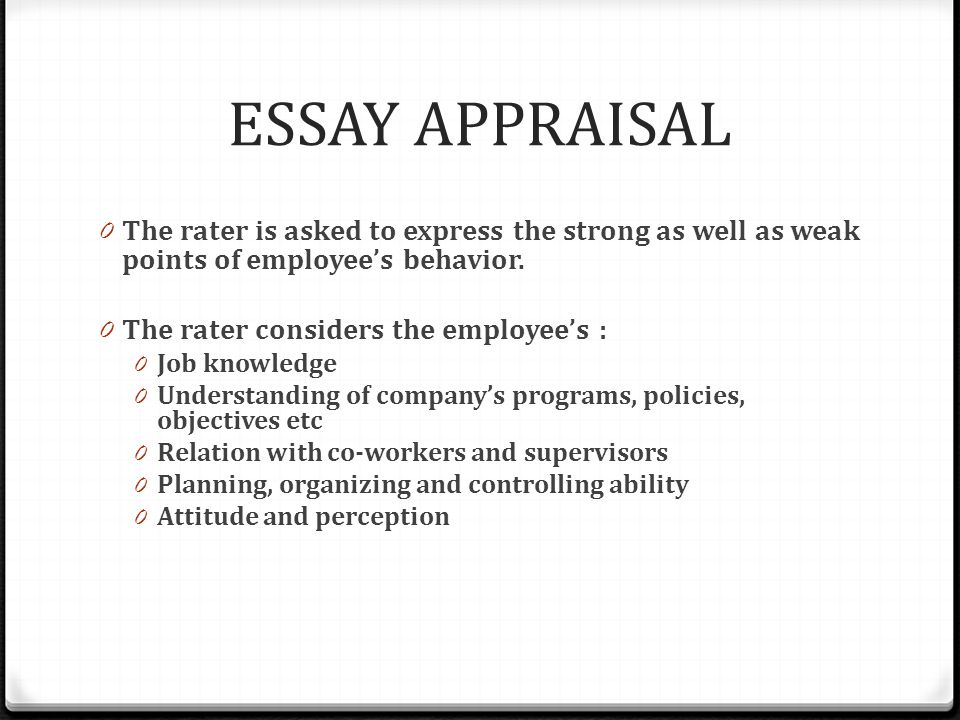 performance appraisal systems ppt video online  7 essay appraisal