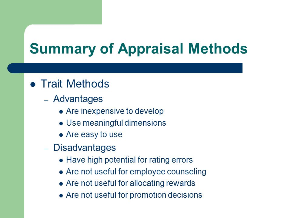 characteristics of an ideal appraisal system