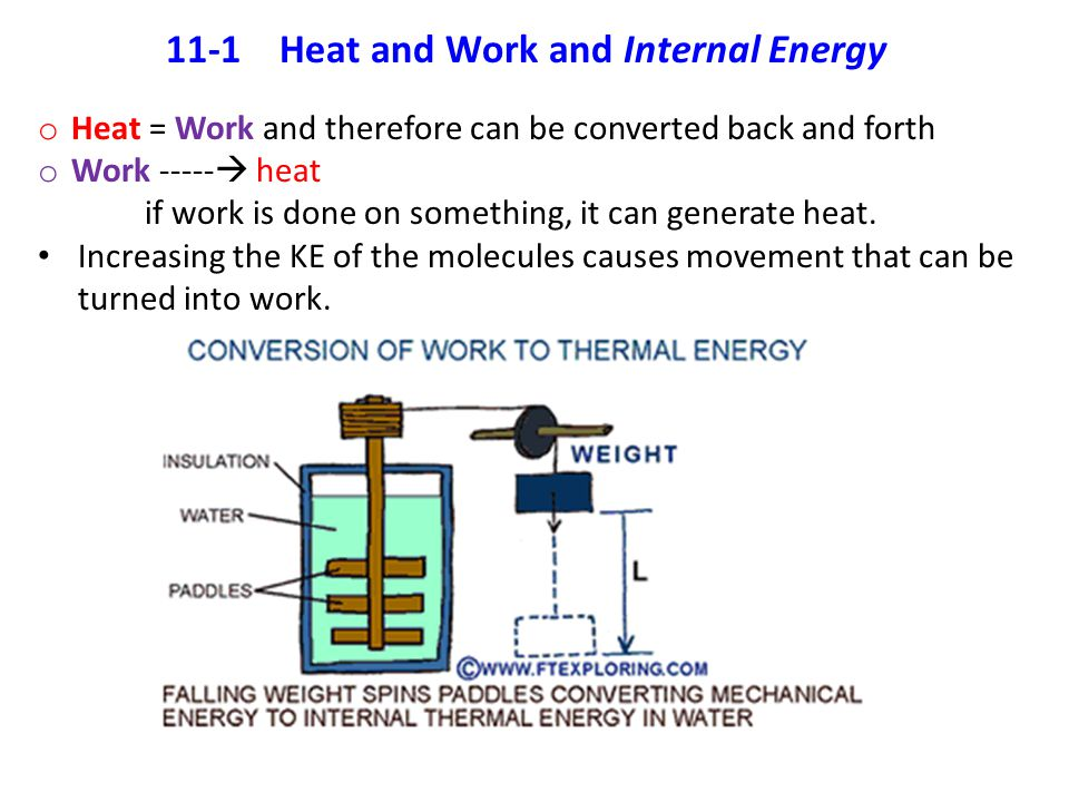 11-1 Heat and Work and Internal Energy
