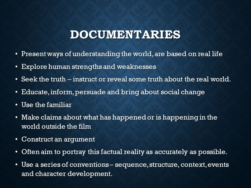 """""""documentaries are about the truth if Great documentary series and features available to watch now on netflix uk   through the eyes and lens of the director, we are offered a vision of 'truth' and the ."""