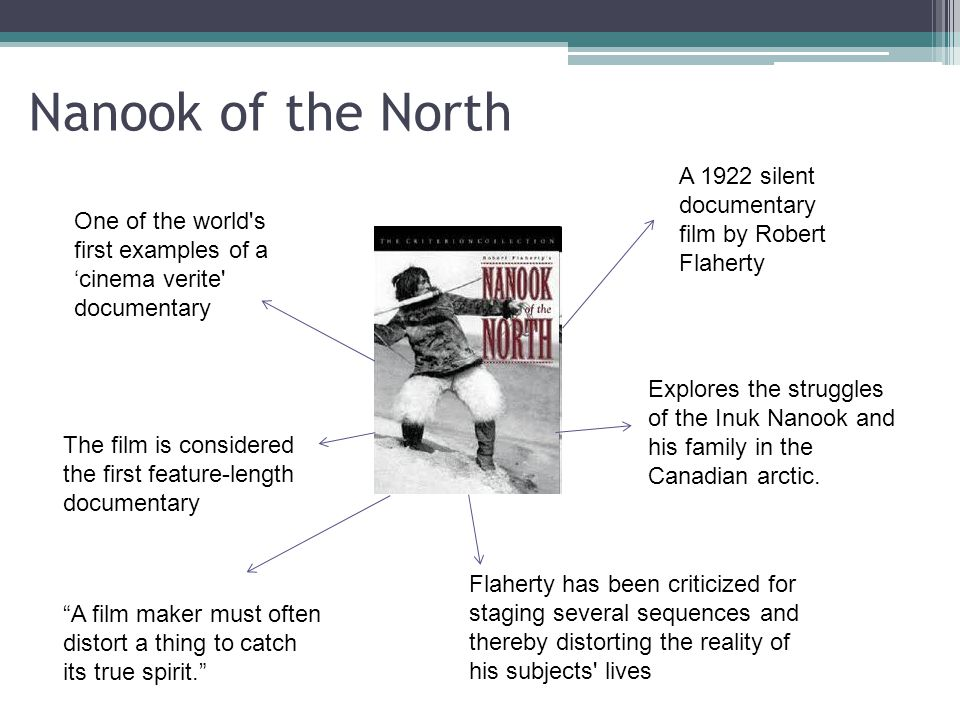 a documentary a paper on robert flahertys nanook of the north In this silent predecessor to the modern documentary 000 others like it now review: nanook of the north review: a documentary a paper on robert flahertys nanook of.