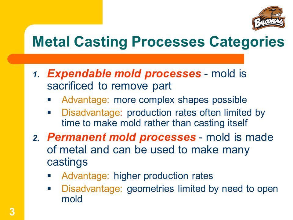 advantages and disadvantages of casting process pdf
