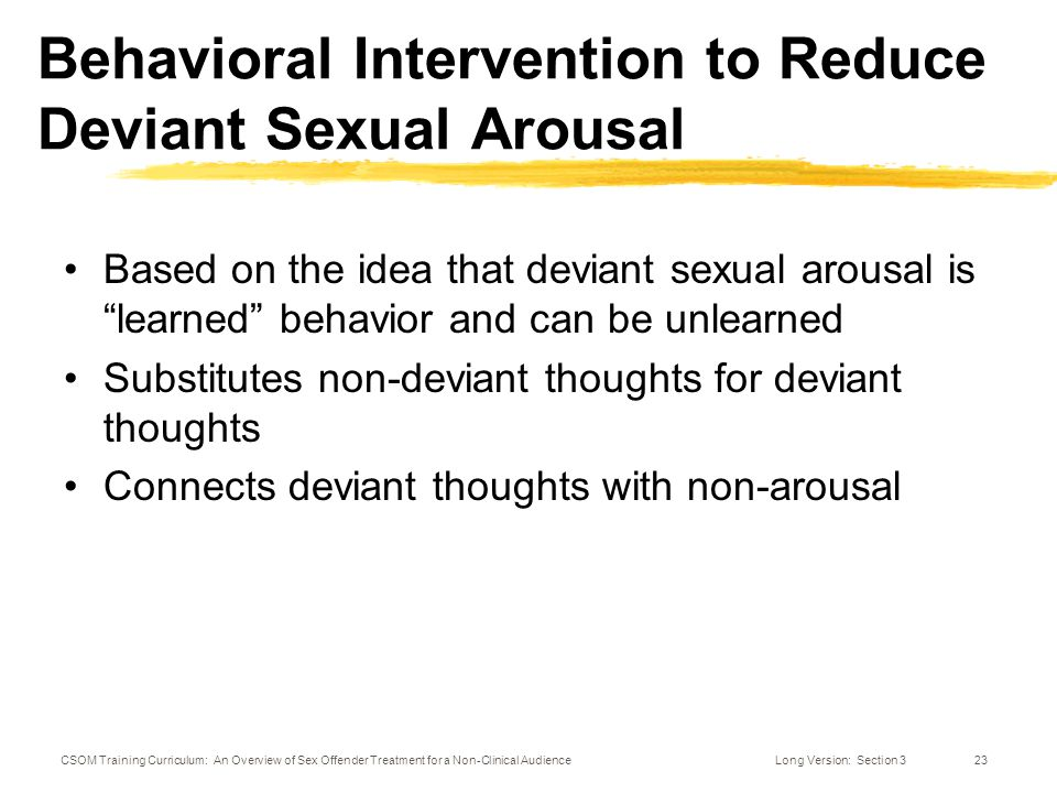 Positive behavioral support for sex offenders