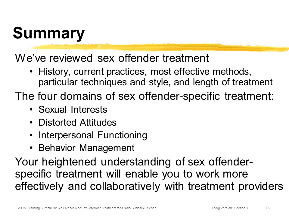 sex offender treatment curriculum initially
