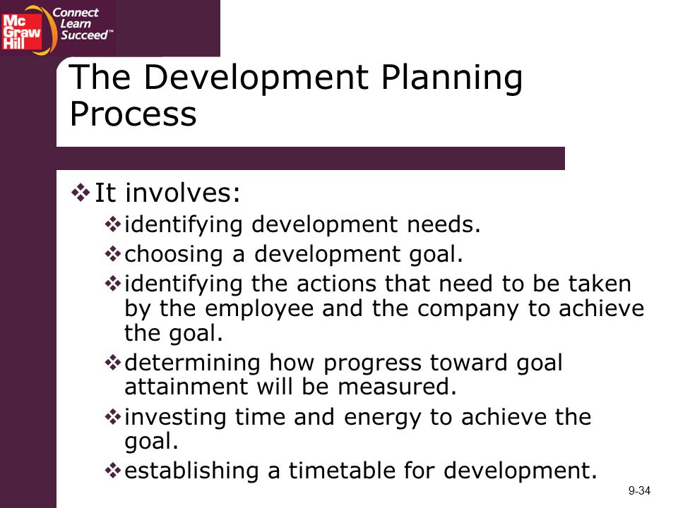 The Development Planning Process