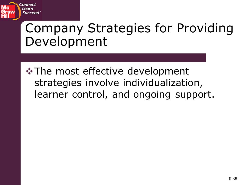 Company Strategies for Providing Development