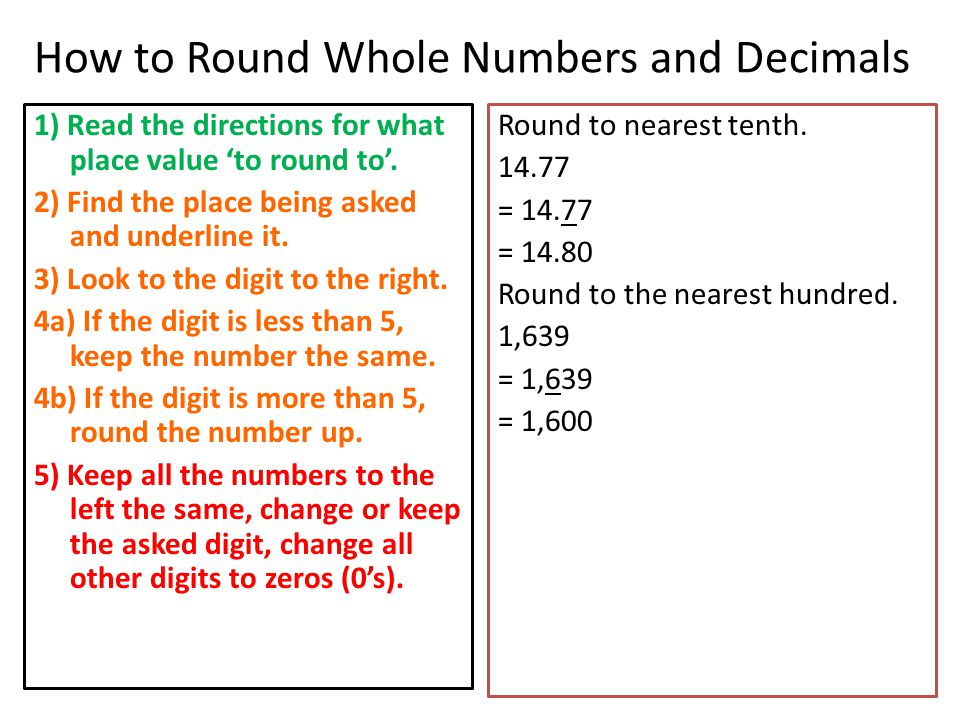 Whole Number Problem Solving