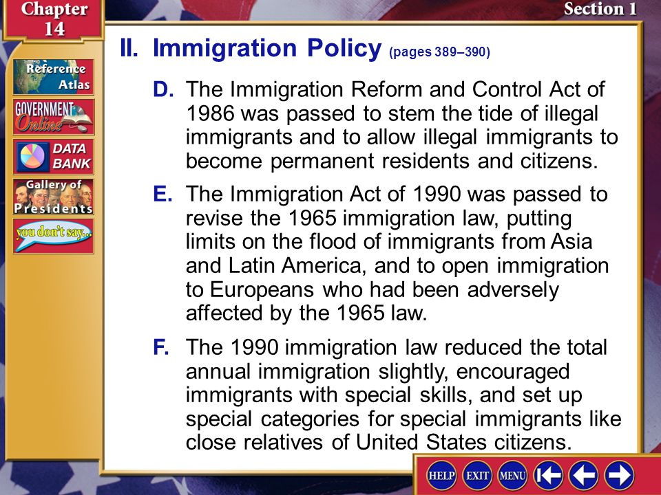 immigration policy in the united states Before 1965, the united states was 85% white but it wasn't until hart-celler that lawmakers finally abandoned blatantly racist immigration policy.