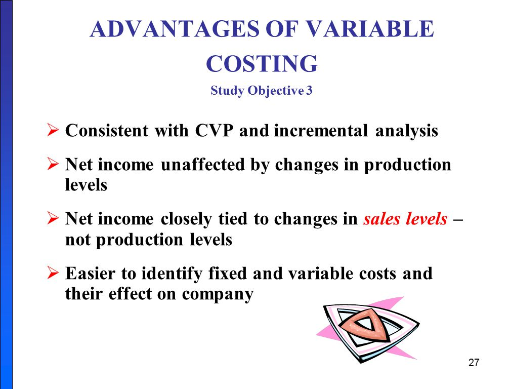 advantages of variance analysis Variance analysis is also illustrated for each type of cost using equations,  price  variances based on the quantity purchased provides several advantages over.
