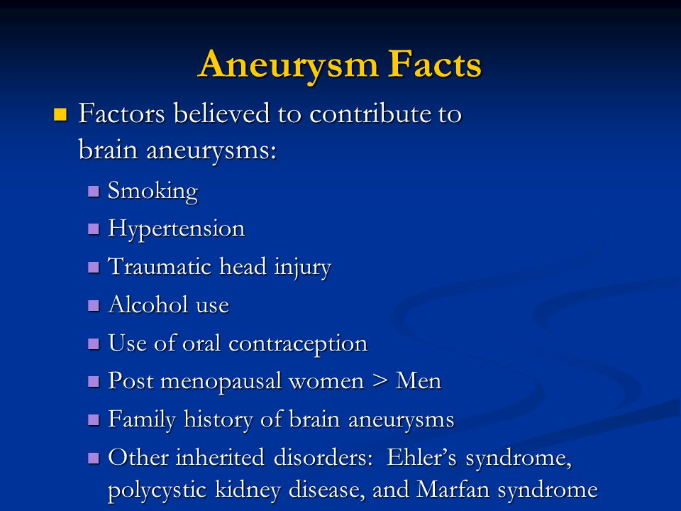 Week 8 Aneurysms Sah Dissections And Arteritis Ppt