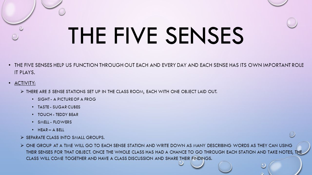 five senses and how they work Our five senses–sight, hearing, touch, taste and smell–seem to operate independently, as five distinct modes of perceiving the world in reality, however, they collaborate closely to enable .