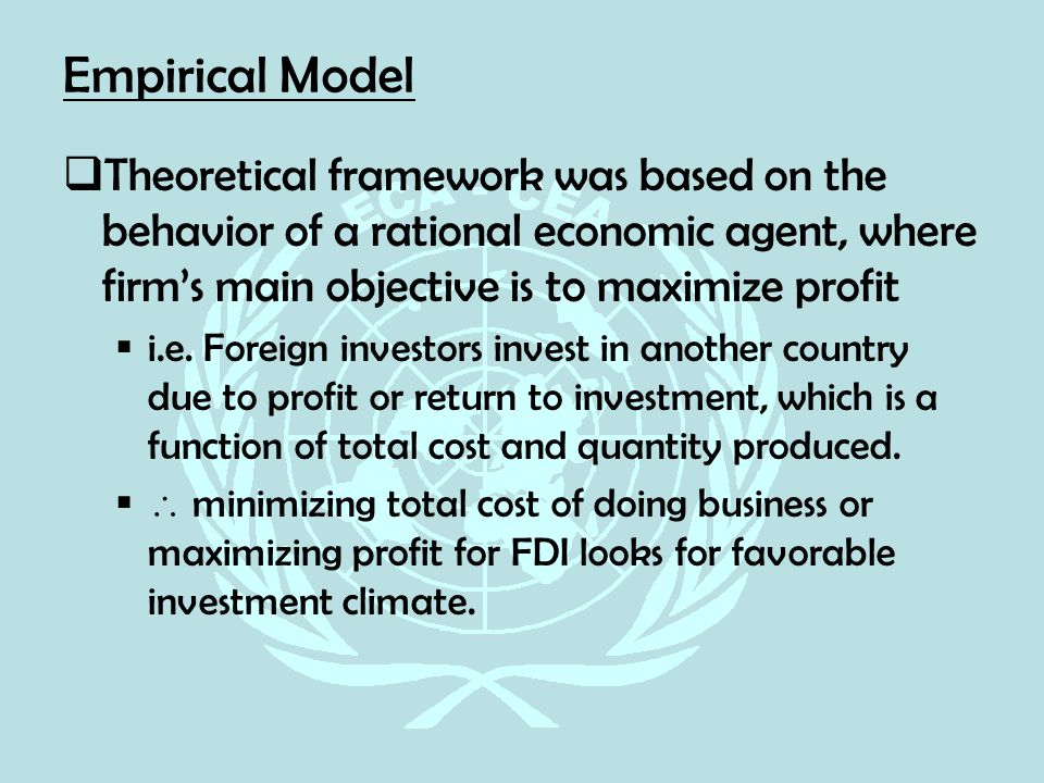 theoretical framework of fdi However, the empirical research on the idp framework and inward fdi stocks  with respect to  in chapter 1, the theoretical framework used in the study is.