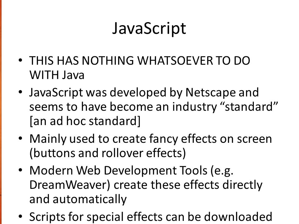 java scripts for updating web pages