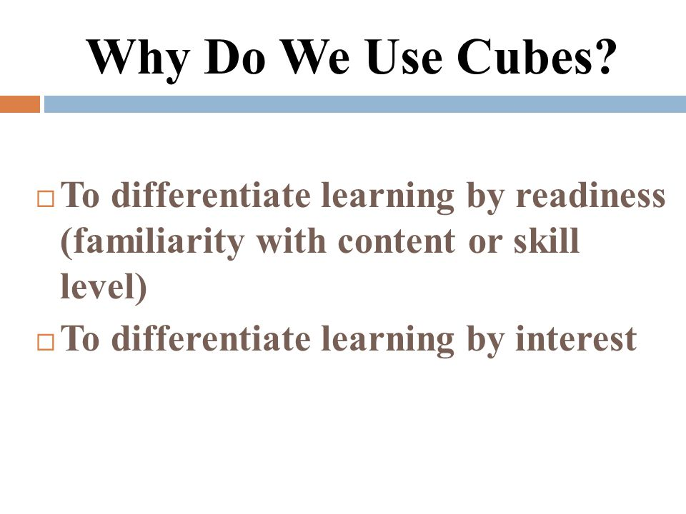 Using The Cubing Strategy To Differentiate Instruction Video