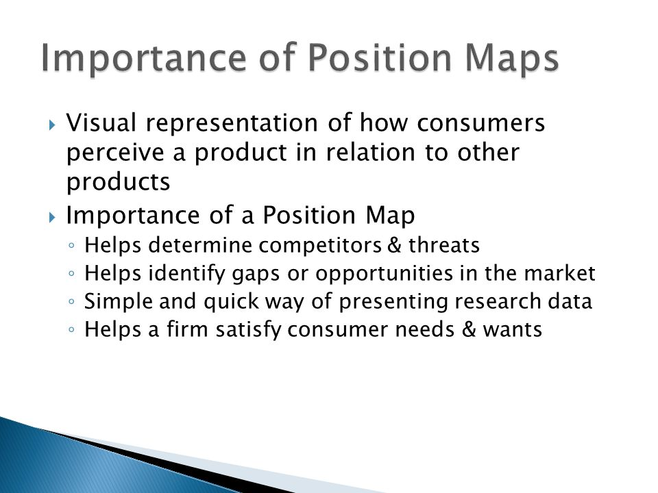 Importance of Position Maps