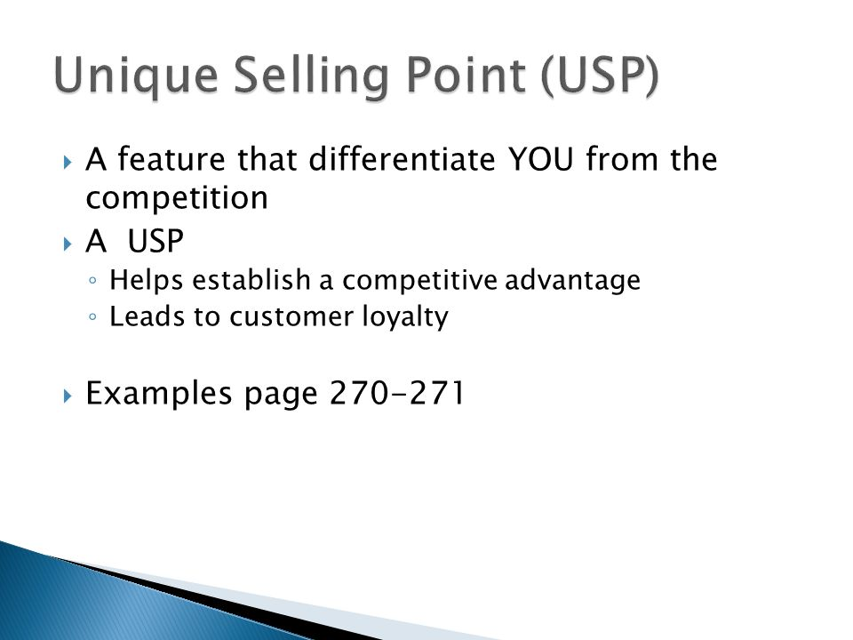 Unique Selling Point (USP)