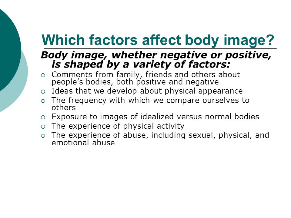 Which factors affect body image